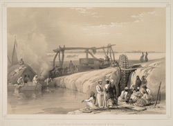 Scene on the River Sutledge.  Near Pauk-Puttun in the Punjab.